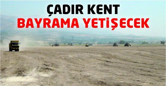 Suriyeli Kardeşlerimiz Bayramı Cadır Kent'te geçirecek