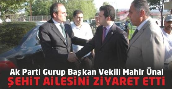 AK Parti Grup Başkan Vekili Ünal, Şehit Ailesini Ziyaret Etti
