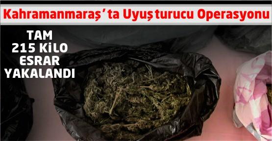 Kahramanmaraş'ta 215 Kilo Esrar Yakalandı