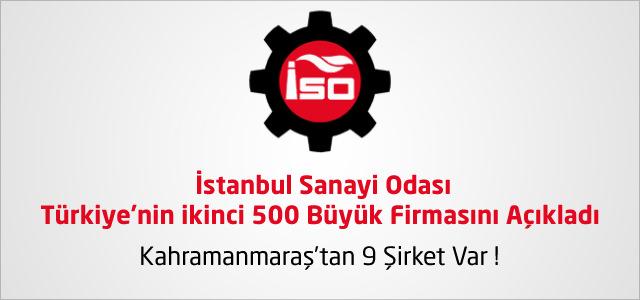 Türkiye'nin ikinci 500 Büyük Firması Arasında 9 Kahramanmaraşlı Firma !