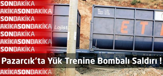 Pazarcık'ta Yük Trenine Bombalı Saldırı !
