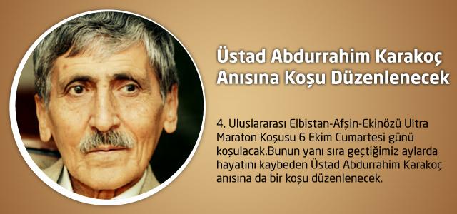 Üstad Abdurrahim Karakoç Anısına Koşu Düzenlenecek