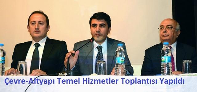 Çevre-Altyapı Temel Hizmetler Birliği Toplantısı Göksun'da yapıldı