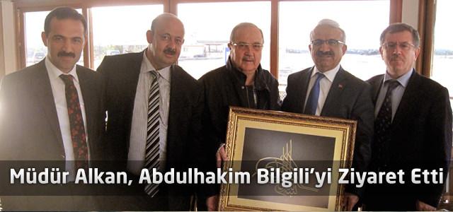 Abdulhakim Bilgili'ye, müdür Alkan'dan ziyaret