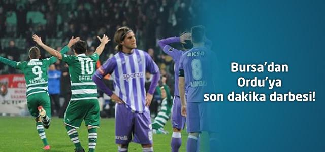 Bursaspor 1 – Orduspor 0   Spor Toto Süper Lig 15. Hafta