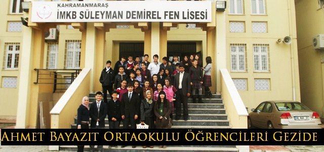 Ahmet Bayazıt Ortaokul 8. Sınıf Öğrencilerine Gezi Düzenlendi
