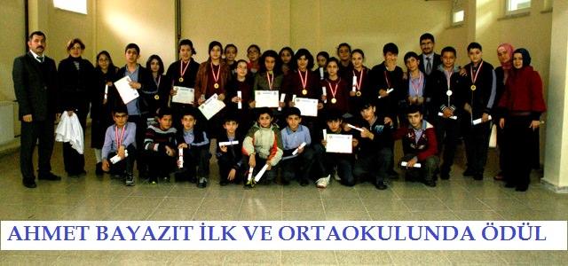 Ahmet Bayazıt İlk ve Ortaokulunda Ödül Töreni