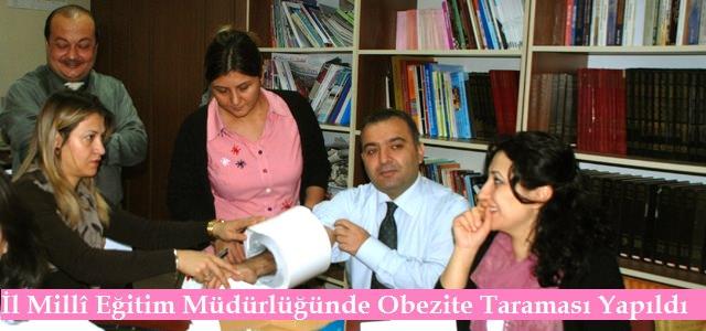 İl Milli Eğitim Müdürlüğü Personeline Obezite Taraması
