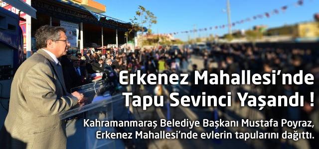 Erkenez Mahallesi'nde Tapu Sevinci Yaşandı