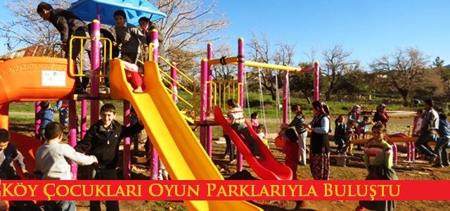 Köy Çocukları Oyun Parklarıyla Buluşuyor