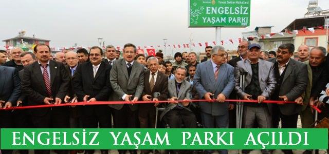 Engelsiz Yaşam Parkı Anlamlı Bir Günde Açıldı.