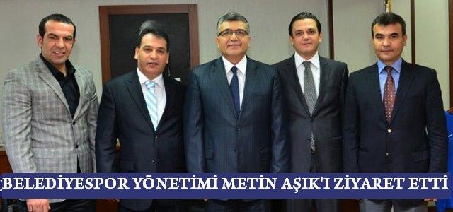 Kahramanmaraş Belediyespor Yönetimi İl Emniyet Müdürü Metin Aşık'ı ziyaret etti.
