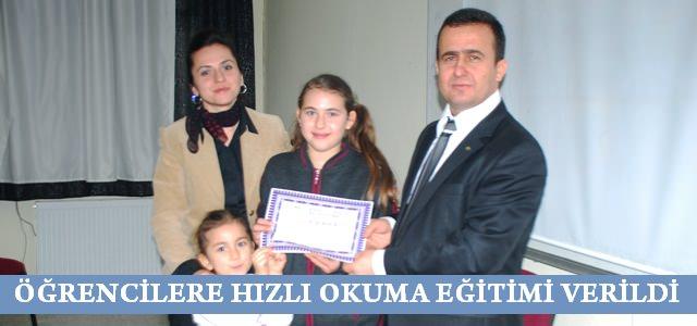 Ahmet Bayazıt Ortaokulunda hızlı okuma eğitimi