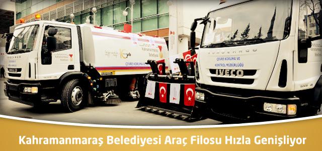 Kahramanmaraş Belediyesi Araç Filosu Hızla Genişliyor