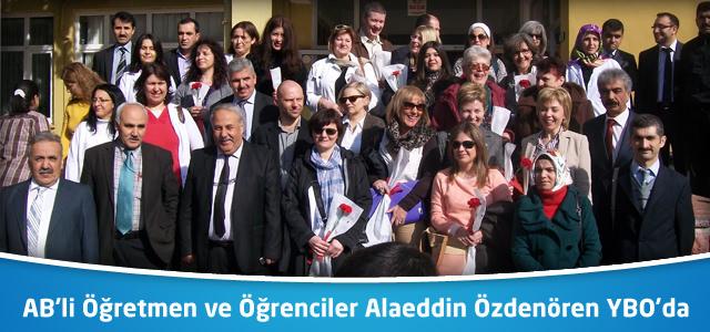 Avrupalı öğretmen ve öğrenciler Alaeddin Özdenören Yatılı Bölge Ortaokulunda