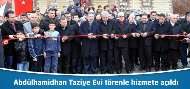 Abdülhamidhan Taziye Evi törenle hizmete açıldı.
