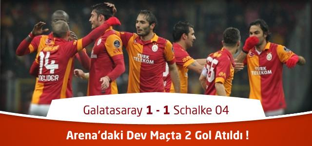 Galatasaray 1 – 1 Schalke 04 – Canlı Maç Özeti – UEFA Şampiyonlar Ligi