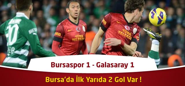 Süper Lig 20. Hafta : Bursaspor 1 – Galatasaray 2 – Maçın Özeti