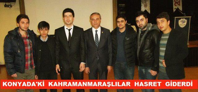 Konya'daki Kahramanmaraşlılar Hasret Giderdi
