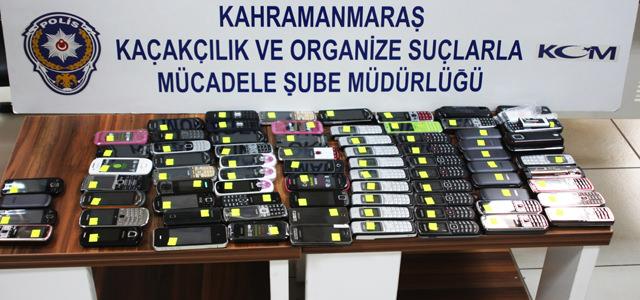 Kahramanmaraş'ta 82 Adet Kaçak Cep Telefonu Ele Geçirildi