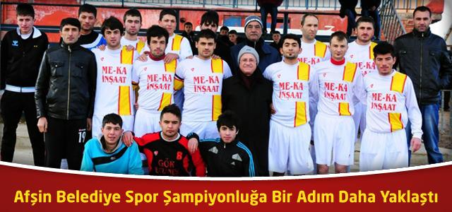 Afşin Belediye Spor Şampiyonluğa Bir Adım Daha Yaklaştı