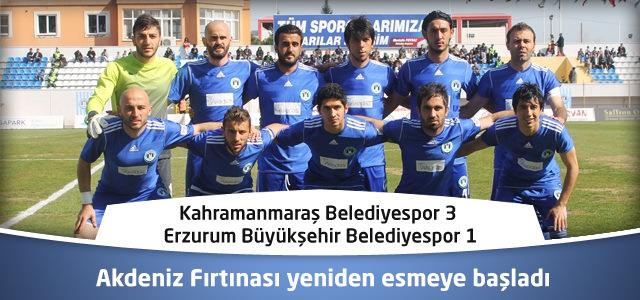 Kahramanmaraş Belediyespor-Erzurum Büyükşehir Belediyespor'u maglup etti 3-1
