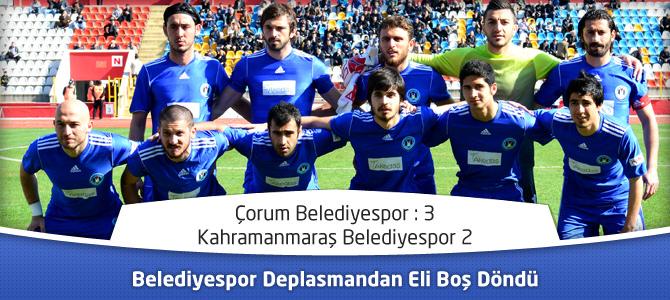 Kahramanmaraş Belediyespor Deplasmandan Eli Boş Döndü