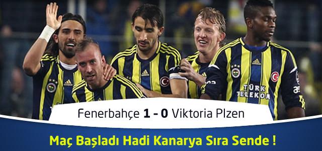 Fenerbahçe 1 – 0 Viktoria Plzen İlk Yarı Maç Özeti