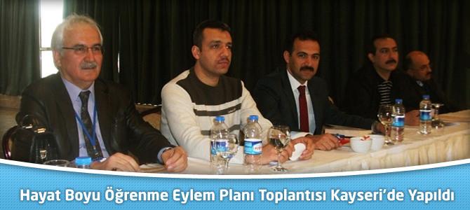 Hayat Boyu Öğrenme Eylem Planı Toplantısı Kayseri'de Yapıldı