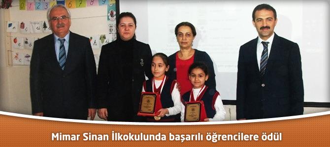 Mimar Sinan İlkokulunda başarılı öğrencilere ödül