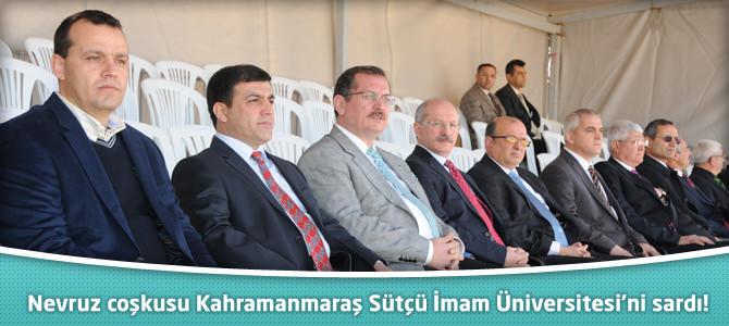 Nevruz coşkusu Kahramanmaraş Sütçü İmam Üniversitesi'ni sardı!