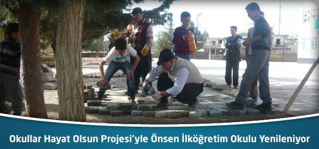Okullar Hayat Olsun Projesi'yle Önsen İlk ve Ortaokulu Yenileniyor