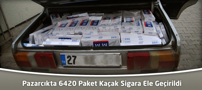 Pazarcıkta 6420 Paket Kaçak Sigara Ele Geçirildi