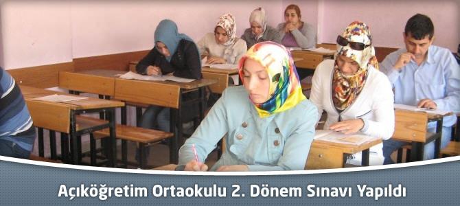 Açıköğretim Ortaokulu 2. Dönem Sınavı Yapıldı