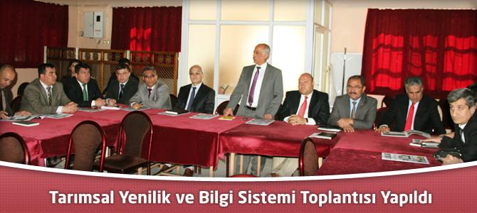 """""""Tarımsal Yenilik Ve Bilgi Sistemi"""" İl Grup Toplantısı Yapıldı"""
