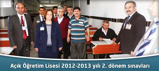 Açık Öğretim Lisesi 2012-2013 yılı 2. dönem sınavları