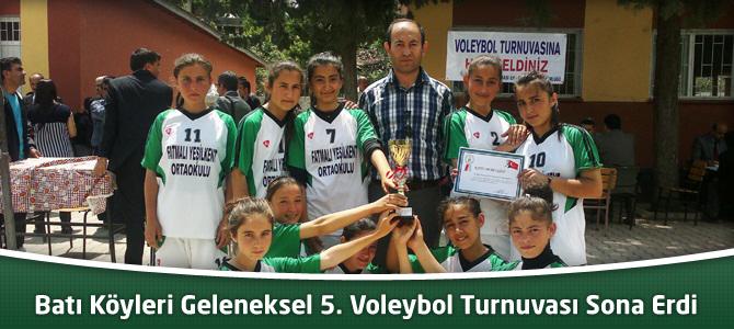 Batı Köyleri Geleneksel 5. Voleybol Turnuvası Sona Erdi