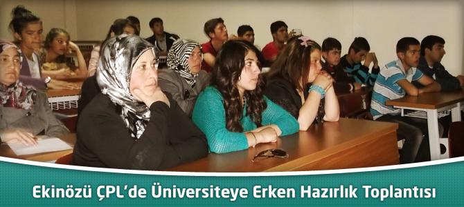Ekinözü ÇPL'de Bir Yıl Önceden Üniversite'ye Hazırlama Toplantısı Yapıldı.