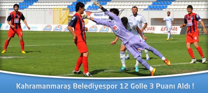 Kahramanmaraş Belediyespor 12 Golle 3 Puanı Aldı