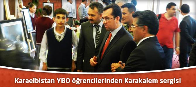 Karaelbistan YBO öğrencilerinden Karakalem sergisi