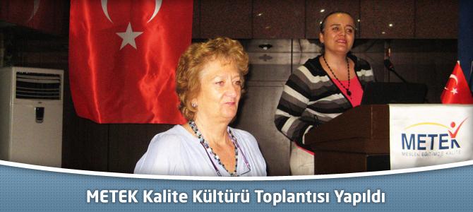 METEK Kalite Kültürü Toplantısı Yapıldı