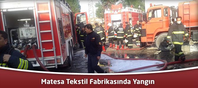 Kahramanmaraş Matesa Tekstil Fabrikasında Yangın