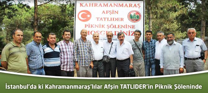 Kahramanmaraşlılar TATLIDER'İN İstanbul'da ki Pikniğinde Buluştu