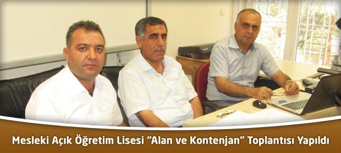 """Mesleki Açık Öğretim Lisesi """"Alan ve Kontenjan"""" Toplantısı Yapıldı"""