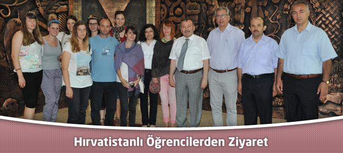 Hırvatistanlı Öğrencilerden Ziyaret