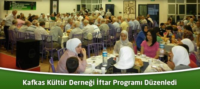 Kahramanmaraş Kafkas Kültür Derneği İftar Programı Düzenledi