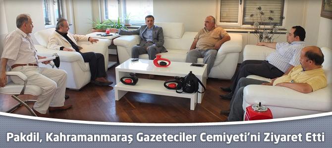 TPB Genel Başkanı Nevzat Pakdil, Kahramanmaraş Gazeteciler Cemiyeti'ni Ziyaret Etti