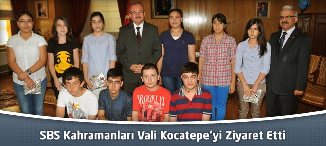 SBS Kahramanları Vali Kocatepe'yi Ziyaret Etti