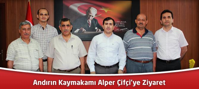 Eğitimcilerden Andırın Kaymakamı Alper Çifçi'ye Ziyaret