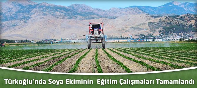Türkoğlu'nda Soya Ekiminin  Eğitim Çalışmaları Tamamlandı